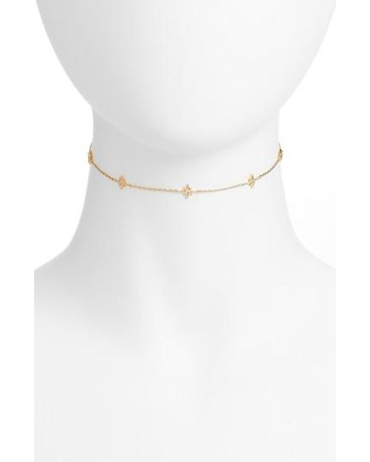 Five And Two - Metallic Mona Star Choker Necklace - Lyst
