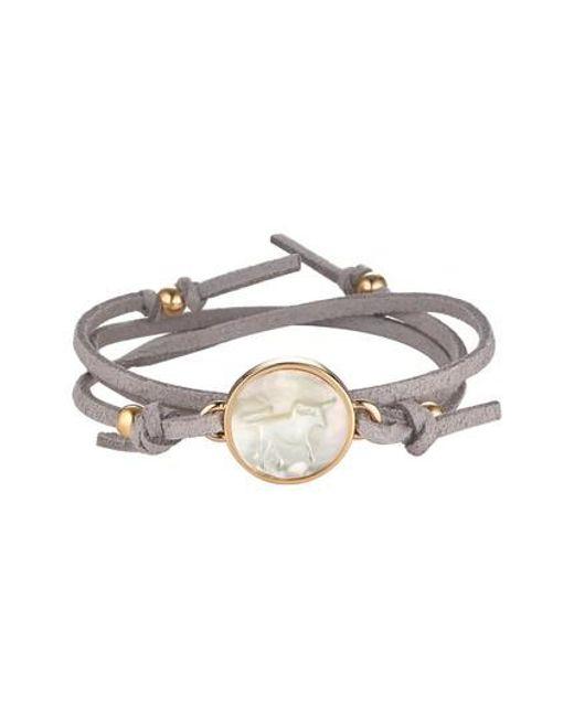 Asha   Gray Zodiac Suede Wrap Bracelet   Lyst