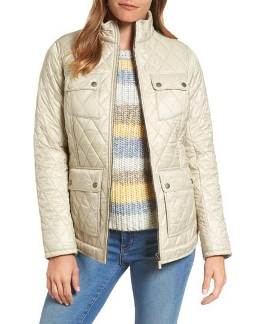 Barbour | Natural Filey Water Resistant Quilted Jacket | Lyst