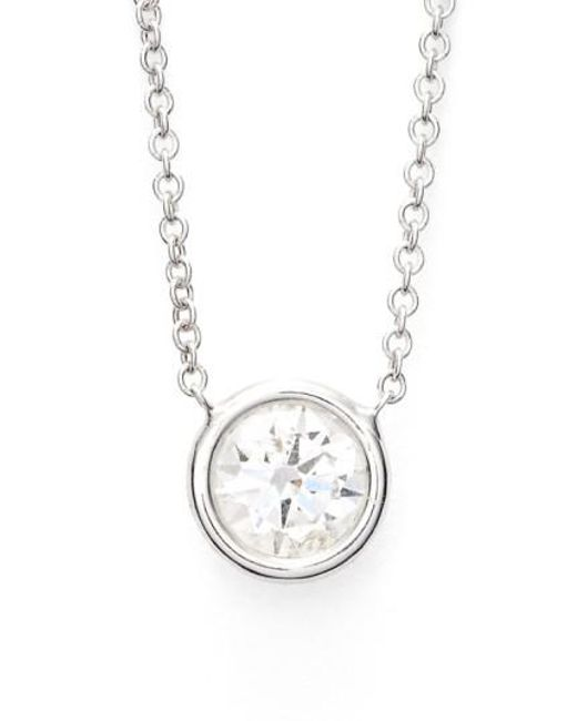 Bony Levy - White Large Diamond Solitaire Pendant Necklace (limited Edition) (nordstrom Exclusive) - Lyst