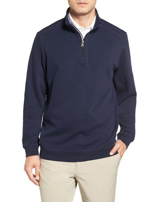 Cutter & Buck - Blue Bayview Quarter Zip Pullover for Men - Lyst