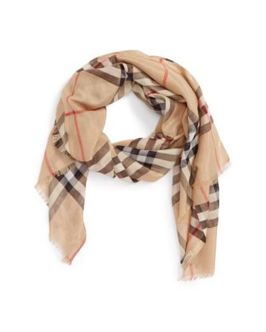 Burberry | Multicolor Giant Check Scarf | Lyst