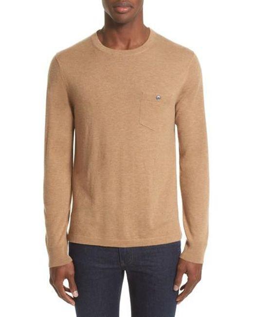 Todd Snyder - Natural Cashmere Pocket T-shirt for Men - Lyst