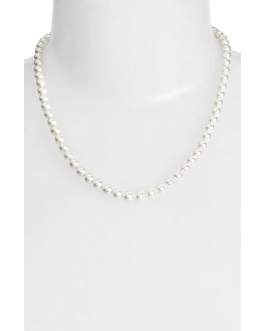 Nadri - White Imitation Pearl Collar Necklace - Lyst