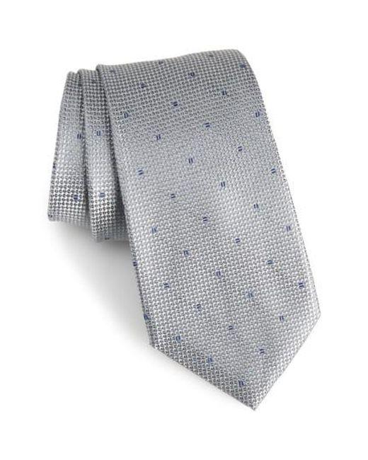 Calibrate | Gray Mulroy Neat Silk Tie for Men | Lyst