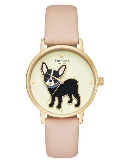 Kate Spade | Metallic Grand Metro Antoine Leather Strap Watch | Lyst