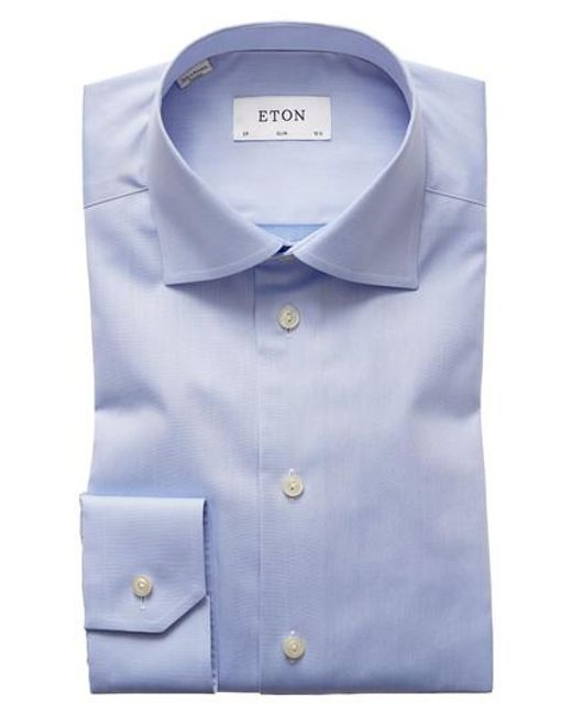 Eton of Sweden - Blue Slim Fit Dress Shirt for Men - Lyst