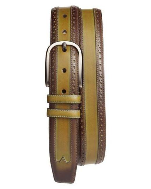Mezlan | Green Leather Belt | Lyst