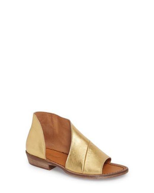 Free People - Metallic 'mont Blanc' Asymmetrical Sandal - Lyst