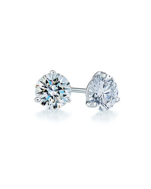Kwiat | Metallic 0.75ct Tw Diamond & Platinum Stud Earrings | Lyst