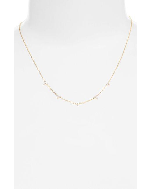 EF Collection - Metallic Diamond Necklace - Lyst