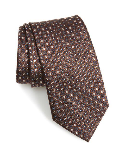 Brioni - Brown Medallion Silk Tie for Men - Lyst