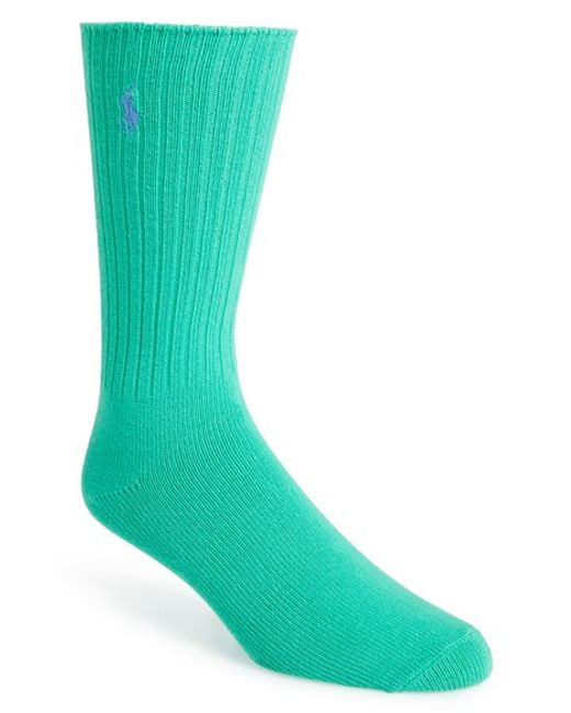 Polo Ralph Lauren | Green Crew Socks for Men | Lyst