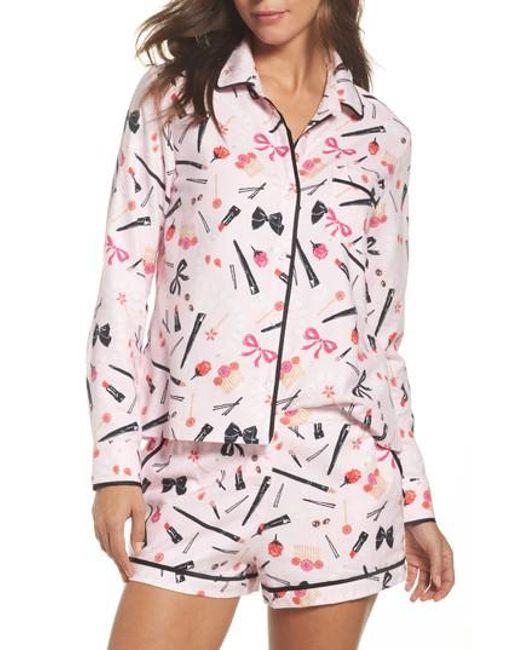 Kate Spade | Pink Short Pajamas | Lyst