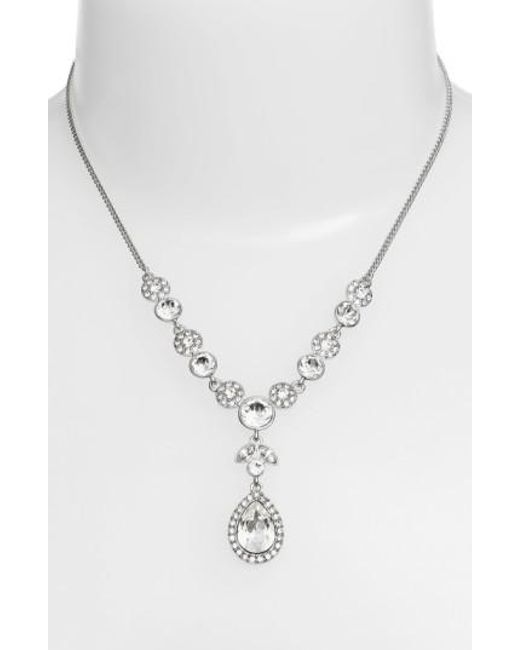 Givenchy - Metallic Crystal Y-necklace - Lyst