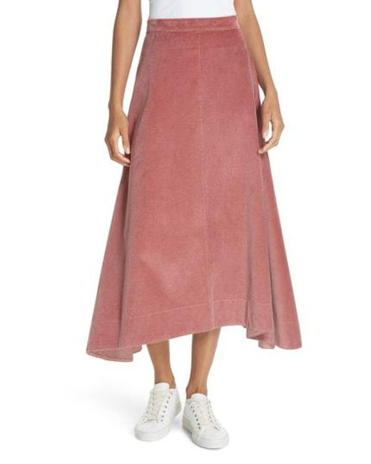 fb27b1acf Lyst - Elizabeth And James Danielle Corduroy Midi Skirt in Pink
