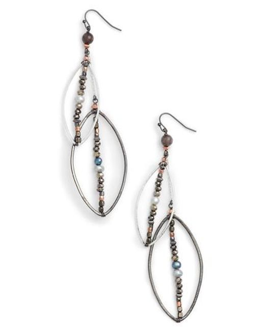 Nakamol | Metallic Long Layered Drop Earrings | Lyst