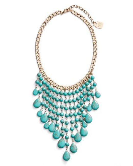 Adia Kibur | Blue Spray Statement Necklace | Lyst
