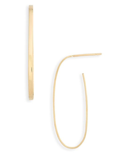 Lana Jewelry - Metallic Flat Long Oval Hoop Earrings - Lyst