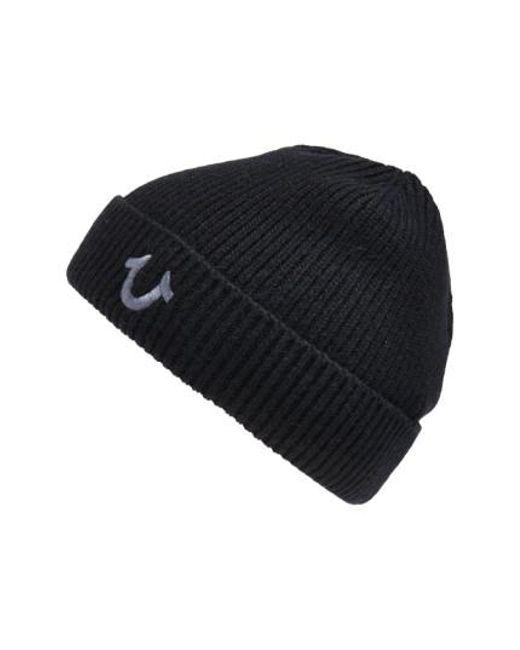 True Religion | Black Rib Knit Cap for Men | Lyst