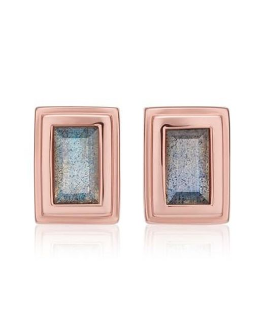 Monica Vinader | Metallic Baja Deco Stud Earrings | Lyst