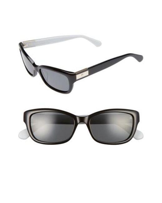 Kate Spade | Black Marilee 53mm Polarized Sunglasses | Lyst