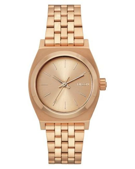 Nixon | Metallic Time Teller Bracelet Watch | Lyst