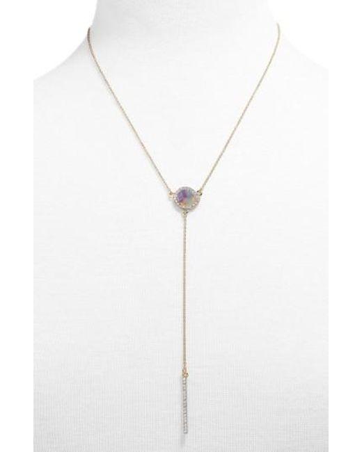 BaubleBar - Metallic Elsha Resin Y-chain Necklace - Lyst