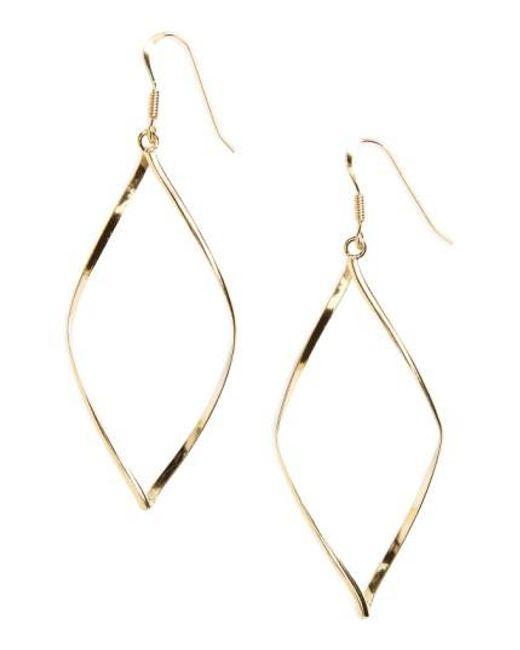 Argento Vivo   Metallic 'marquise' Earrings   Lyst