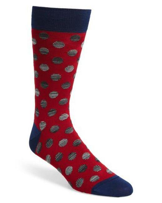 Bugatchi | Red Dot Socks for Men | Lyst