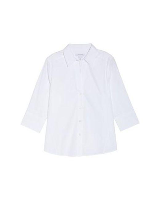 Foxcroft - White 'paige' Non-iron Cotton Shirt - Lyst