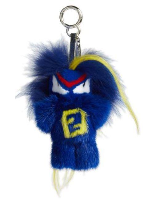 Fendi | Blue 'rumi Bug-kun' Genuine Fur Bag Charm | Lyst