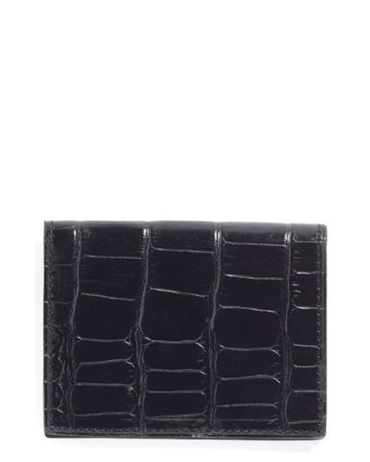 Martin Dingman | Black Leather Id Wallet for Men | Lyst