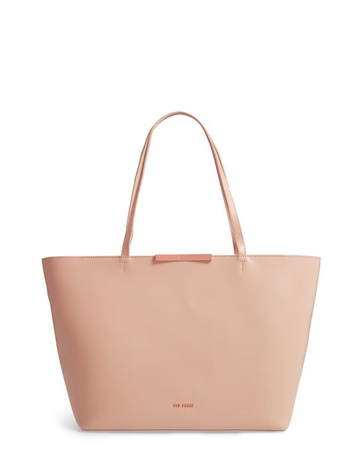 1150cf1055a2 Lyst - Ted Baker Joycee Bow Leather Tote - in Pink