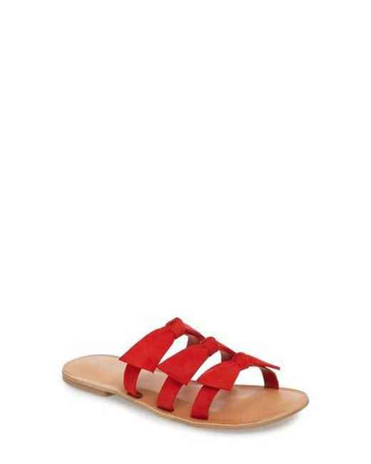 Jeffrey Campbell - Red Atone Sandal - Lyst