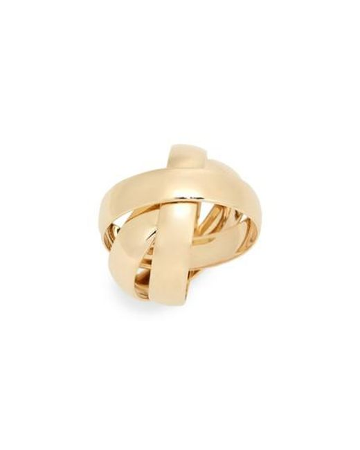 Lana Jewelry 14k Tricolor Gold Bubble Ring
