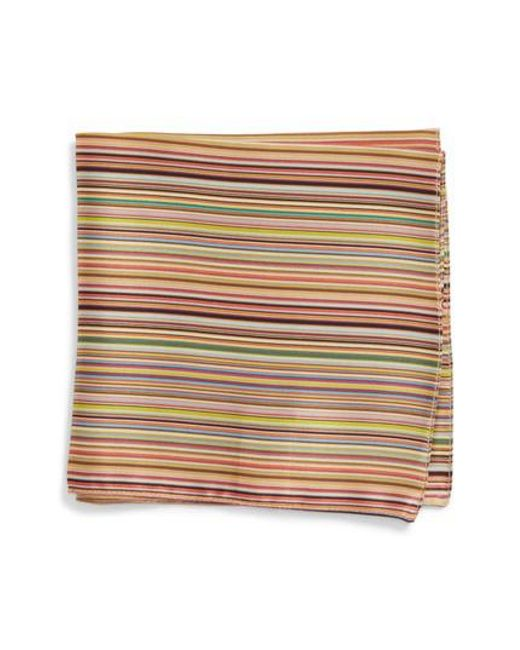Paul Smith - Multicolor Multistripe Silk Pocket Square for Men - Lyst