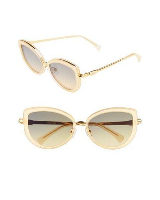 Wildfox - Metallic Clubhouse 54mm Mirrored Sunglasses - Lyst