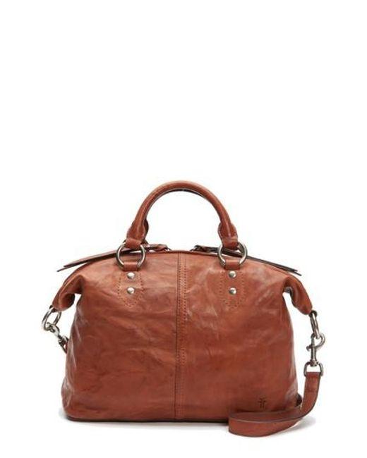 Frye   Brown Veronica Sheepskin Leather Satchel   Lyst