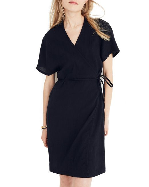 Madewell - Blue Gauze Wrap Dress - Lyst