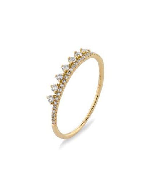 Bony Levy   Metallic 'princess Crown' Stackable Diamond Ring (nordstrom Exclusive)   Lyst