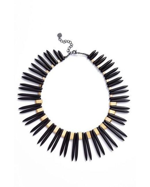 Nakamol | Black Double Spike Statement Necklace | Lyst