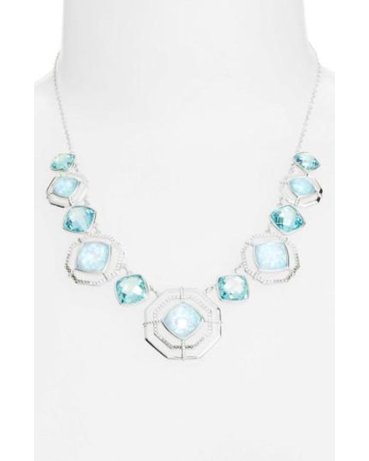 Judith Jack   Blue Paradise Frontal Necklace   Lyst