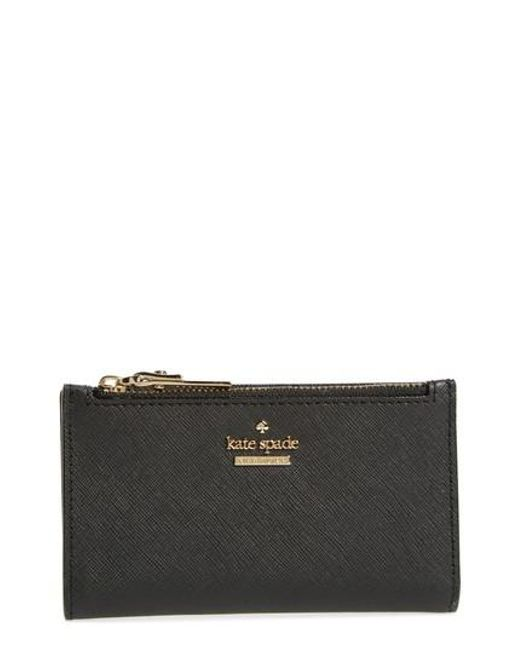 Kate Spade - Black Cameron Street - Mikey Leather Wallet - Lyst
