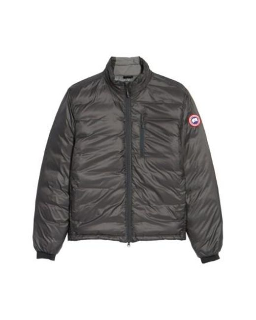 Canada Goose - Gray 'lodge' Slim Fit Packable Windproof 750 Down Fill Jacket ,