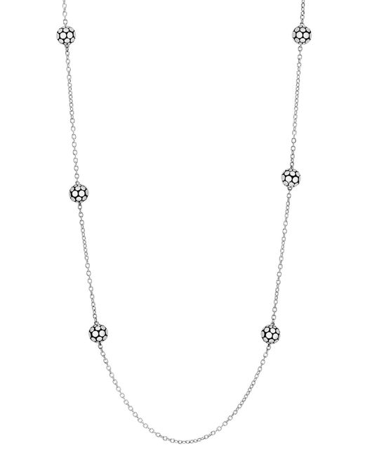 John Hardy - Metallic Dot Station Necklace - Lyst