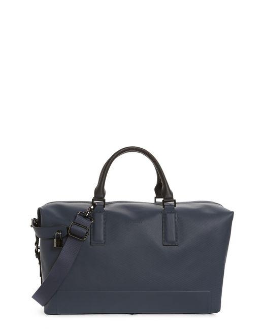 Ted Baker - Blue Potts Leather Duffel Bag for Men - Lyst