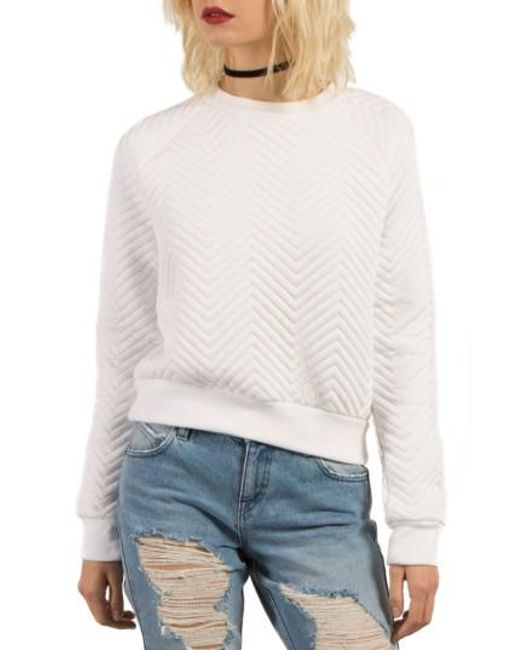 Volcom | White Cozy Dayz Sweatshirt | Lyst