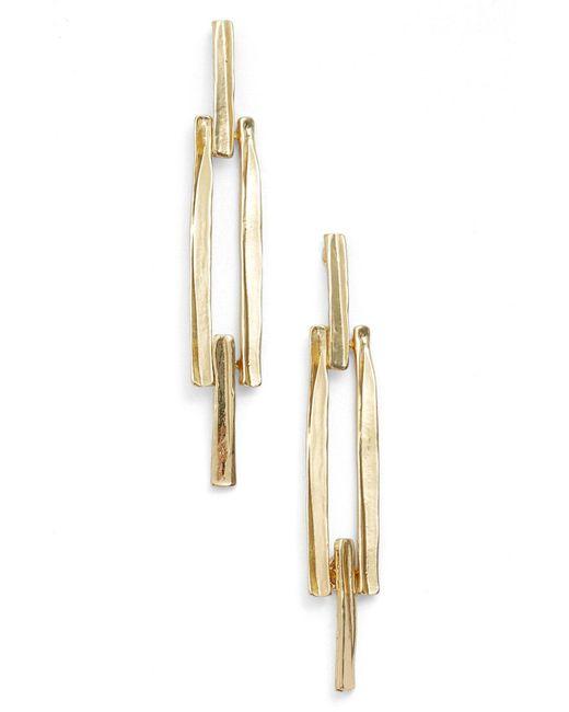 Karine Sultan - Metallic Drop Earrings - Lyst