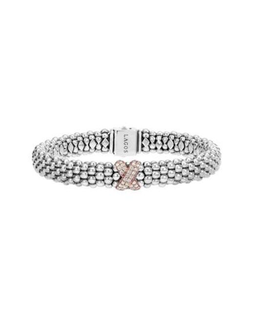 Lagos   Metallic 'caviar' Gold Diamond Rope Bracelet   Lyst